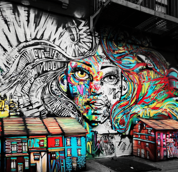 JMZ Walls makes NYC a more colorful place to explore one space at a time. [Image Via JMZ Walls]