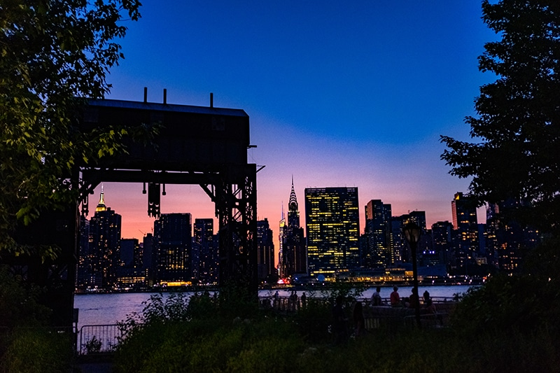Summer Date Ideas In NYC include Gantry Plaza State Park, Long Island City, Queens