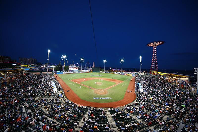 Summer Date Ideas In NYC include MCU Park, Coney Island, Brooklyn