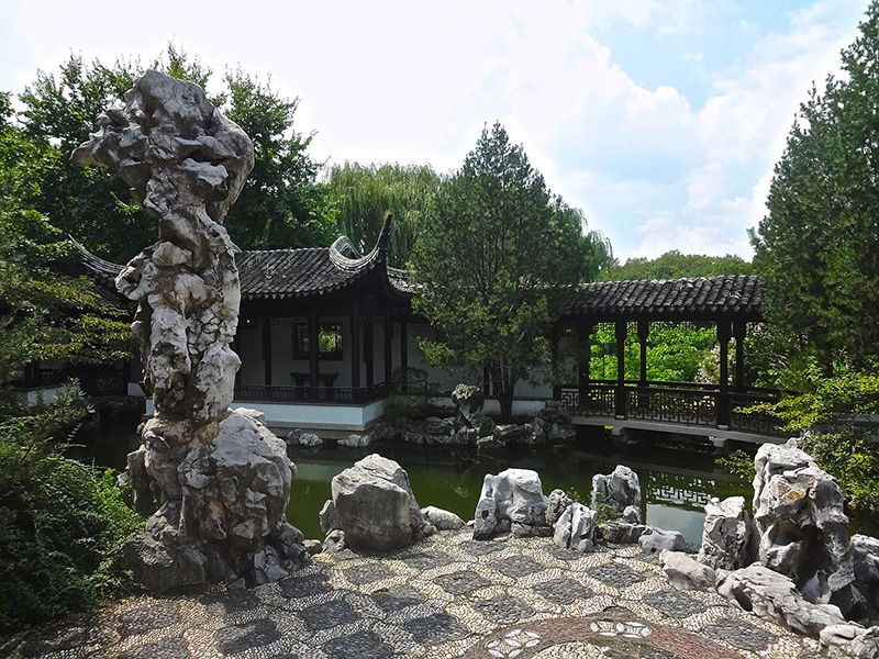 Summer Date Ideas In NYC include the New York Chinese Scholar's Garden