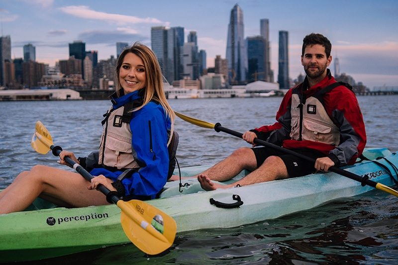 Summer Date Ideas In NYC include Kayaking on the Hudson River, New York City