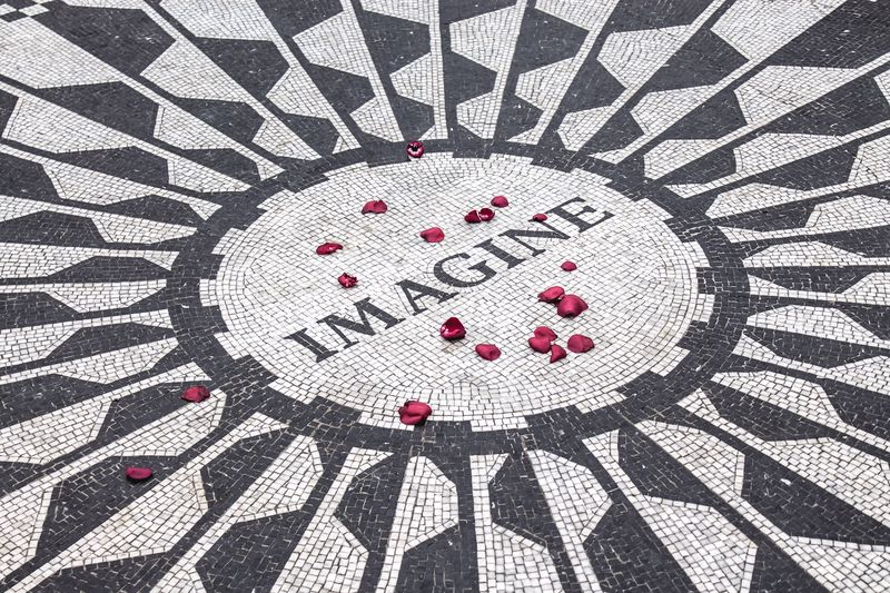 No Central Park for couples guide would be complete without Strawberry Fields
