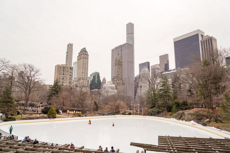 Wollman Rink is one of the top Central Park romantic spots